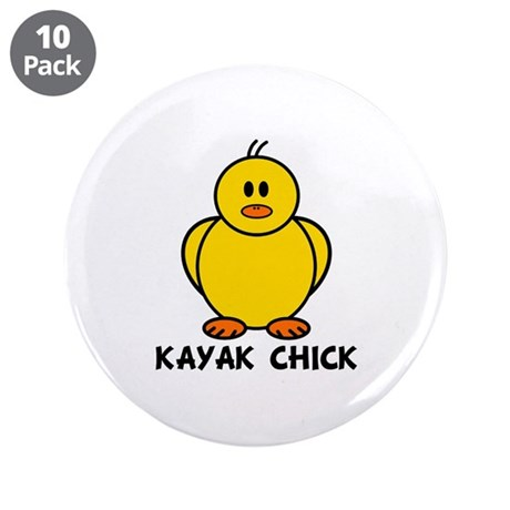 "Kayak Chick 3.5"" Button (10 pack)"