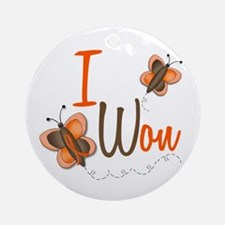 I Won 1 Butterfly 2 ORANGE Ornament (Round)
