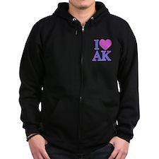 I Love AK Zip Hoodie