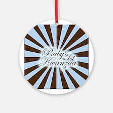 Pinwheel Baby's First Kwanzaa Ornament (Round)