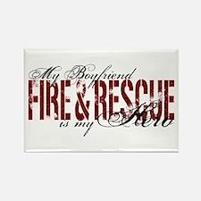 Boyfriend My Hero - Fire & Rescue Rectangle Magnet