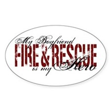 Boyfriend My Hero - Fire & Rescue Oval Decal