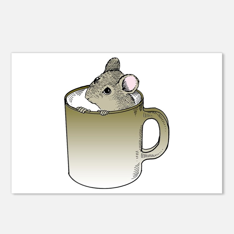 Coffee Mouse Postcards (Package of 8)