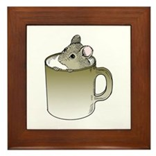 Coffee Mouse Framed Tile
