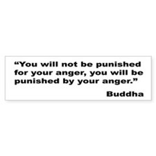 Buddha Anger Quote Bumper Bumper Sticker