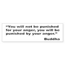 Buddha Anger Quote Bumper Sticker (10 pk)