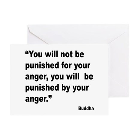 Buddha Anger Quote Greeting Cards (Pk of 10)