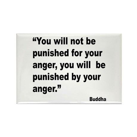 Buddha Anger Quote Rectangle Magnet (10 pack)