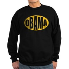 Gold Oval Obama Sweatshirt