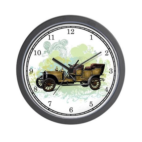 Vintage Touring Car Wall Clock by scooterbaby