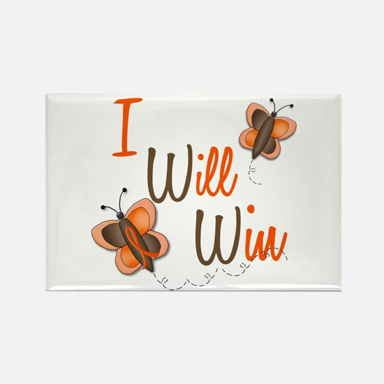I Will Win 1 Butterfly 2 ORANGE Rectangle Magnet