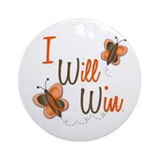 I Will Win 1 Butterfly 2 ORANGE Ornament (Round)