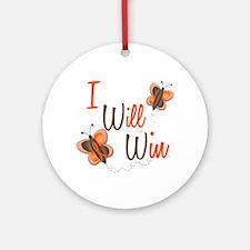 I Will Win 1 Butterfly 2 ORANGE Ornament (Round)
