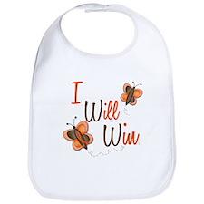 I Will Win 1 Butterfly 2 ORANGE Bib
