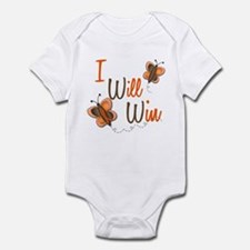 I Will Win 1 Butterfly 2 ORANGE Infant Bodysuit