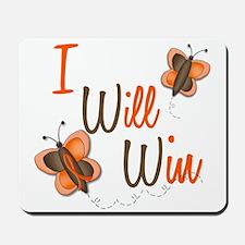I Will Win 1 Butterfly 2 ORANGE Mousepad