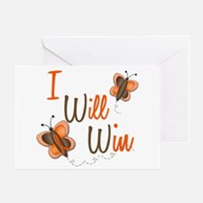 I Will Win 1 Butterfly 2 ORANGE Greeting Card