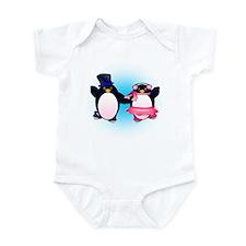 Penguin Pair Skate Infant Bodysuit