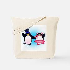 Penguin Pair Skate Tote Bag