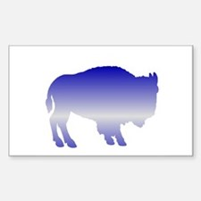 Buffalo Winter Rectangle Decal