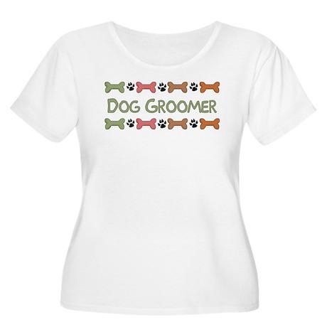 Dog Groomer Women's Plus Size Scoop Neck T-Shirt