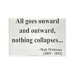 Walt Whitman 20 Rectangle Magnet (10 pack)