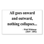 Walt Whitman 20 Rectangle Sticker