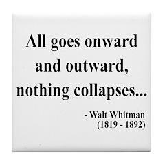Walt Whitman 20 Tile Coaster