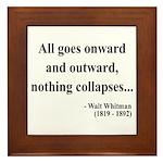 Walt Whitman 20 Framed Tile
