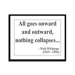 Walt Whitman 20 Framed Panel Print