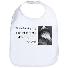 Walt Whitman 21 Bib