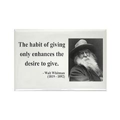 Walt Whitman 21 Rectangle Magnet (10 pack)