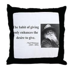 Walt Whitman 21 Throw Pillow