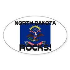 North Dakota Rocks! Oval Decal