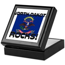 North Dakota Rocks! Keepsake Box