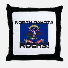North Dakota Rocks! Throw Pillow