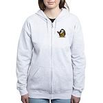 Caveman Penguin Women's Zip Hoodie