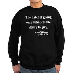 Walt Whitman 21 Sweatshirt