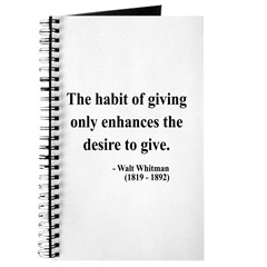 Walt Whitman 21 Journal