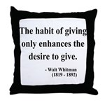 Walt Whitman 21 Throw Pillow