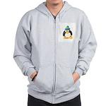 Clay Green Beanie Penguin Zip Hoodie
