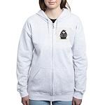 Mobster penguin Women's Zip Hoodie