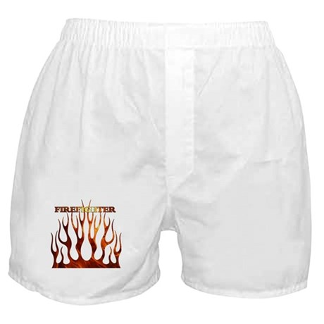 Firefighter Tribal Flames Boxer Shorts