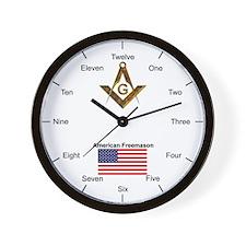 American Freemasons Wall Clock