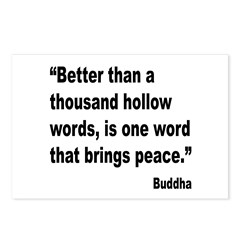 Buddha Peace Quote Postcards (Package of 8)