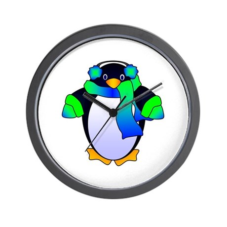 Chilly Penguin Wall Clock