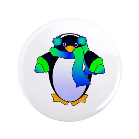 """Chilly Penguin 3.5"""" Button"""