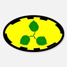 Caerthe populace Oval Decal