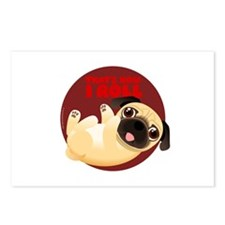 THAT'S HOW I ROLL Pug Postcards (Package of 8)