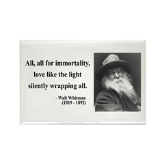Walt Whitman 22 Rectangle Magnet